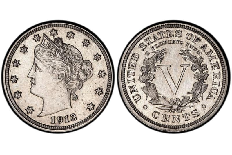 Moedas Mais Caras - Liberty Head Nickel - 1913 - Hawai Five-O Star