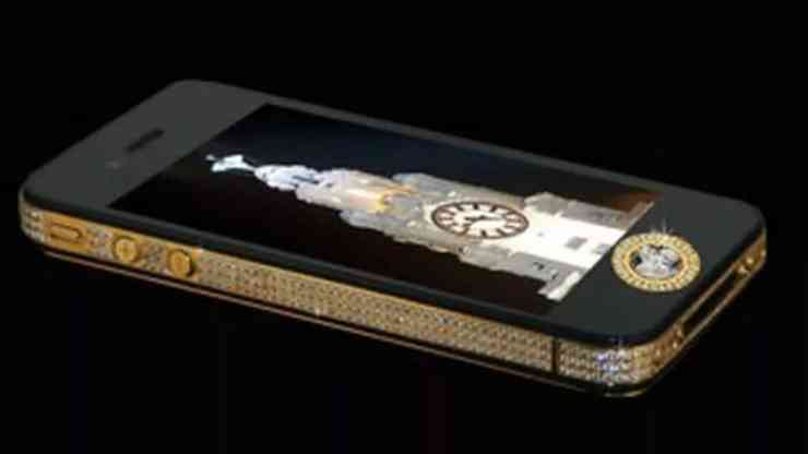 Most Expensive Phones - Stuart Hughes iPhone 4s Elite Gold