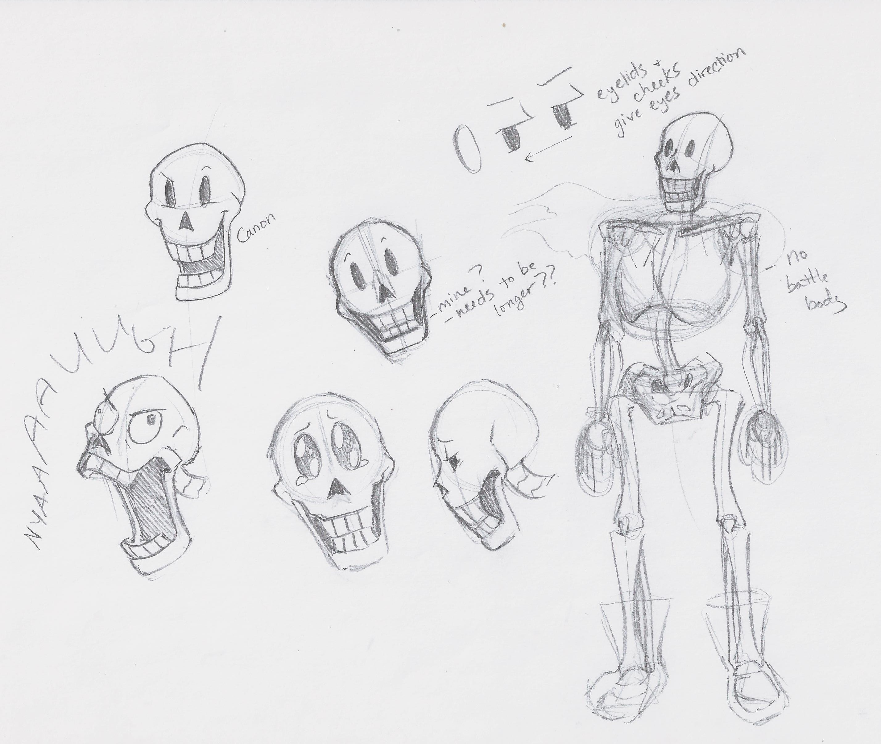 Papyrus Undertale Easy Draw | Wiring Diagram Database