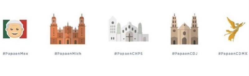 Twitter se prepara para recibir al Papa Francisco en México - emojis-papa-mexico-2016-800x244