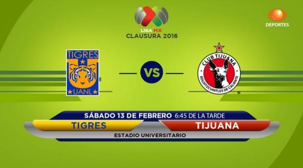Tigres vs Tijuana, Jornada 6 del Clausura 2016 - tigres-vs-xolos-de-tijuana-clausura-2016-televisa-deportes