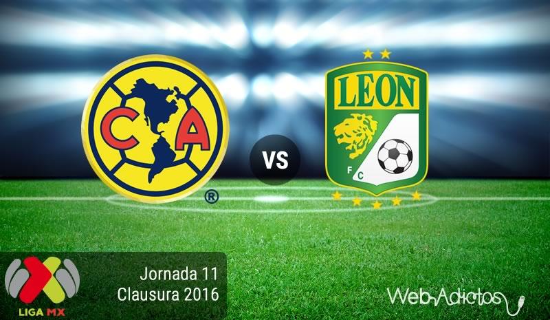 América vs León, Jornada 11 del Clausura 2016   Resultado: 2-1 - america-vs-leon-en-la-jornada-11-del-clausura-2016
