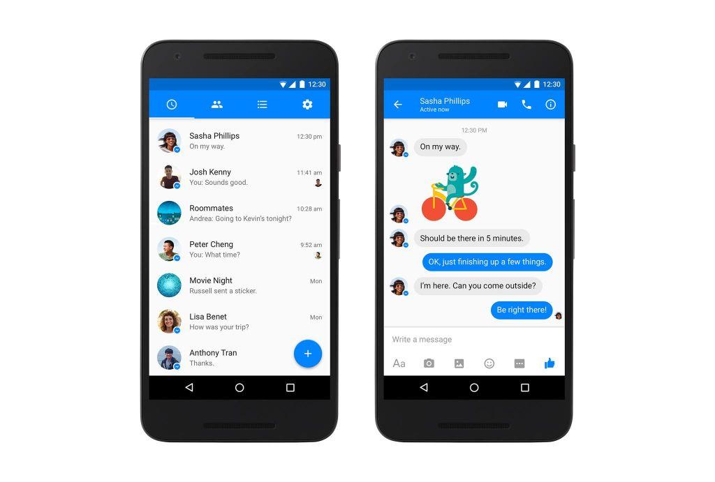Facebook Messenger renueva su interfaz en Android - facebook-messenger-material