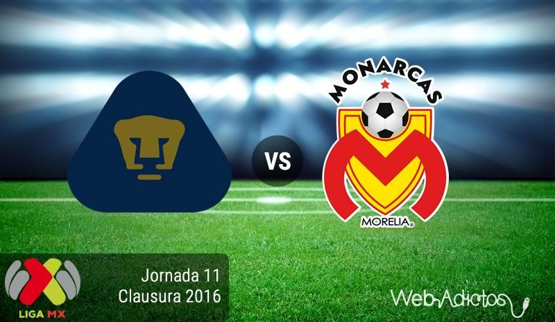 Pumas vs Morelia, Fecha 11 del C2016 | Resultado: 4-2 - pumas-vs-morelia-en-la-jornada-11-del-clausura-2016