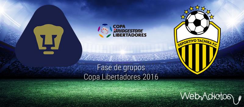 Pumas vs Táchira, Copa Libertadores 2016 | Resultado: 4-1 - pumas-vs-tachira-en-copa-libertadores-2016