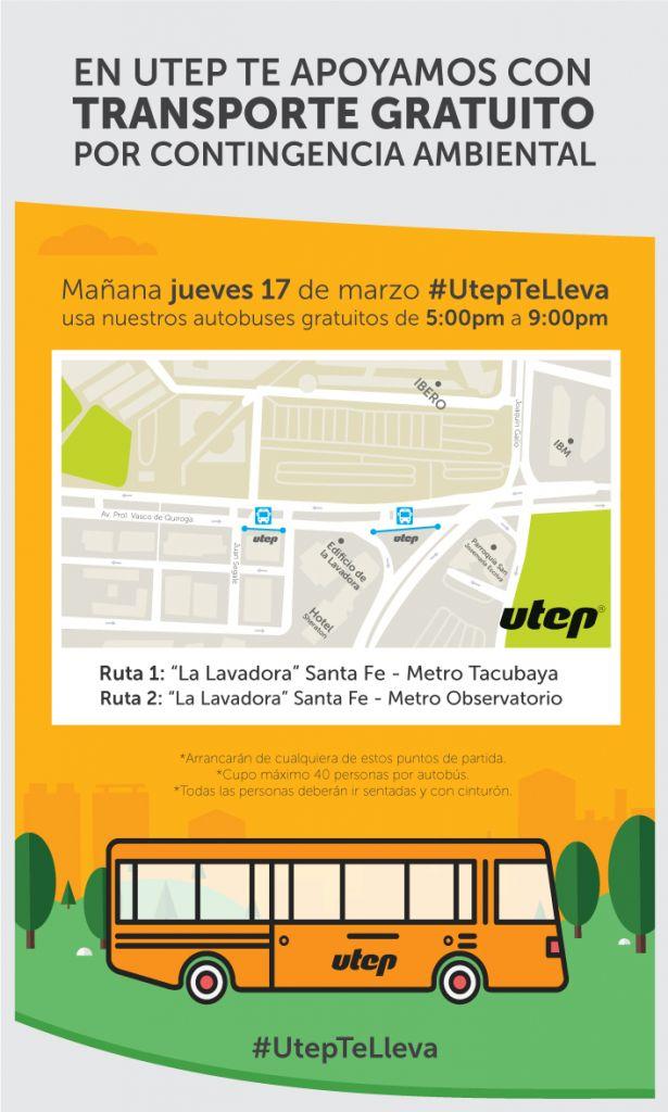 Servicio privado de transporte ofrece rutas gratuitas en Santa Fe por contingencia ambiental - utep-ci-info