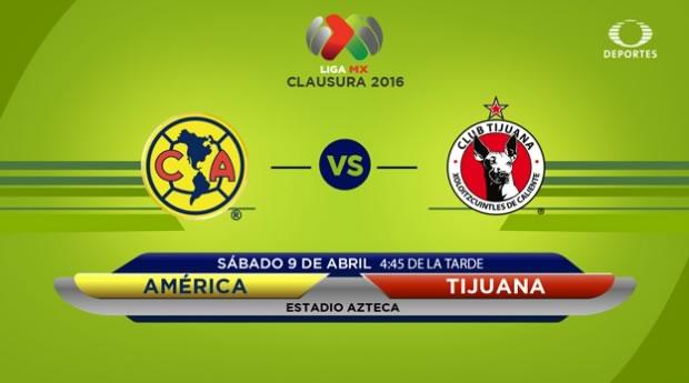 América vs Tijuana, Jornada 13 del Clausura 2016 | Resultado: 6-1 - america-vs-tijuana-clausura-2016-televisa-deportes