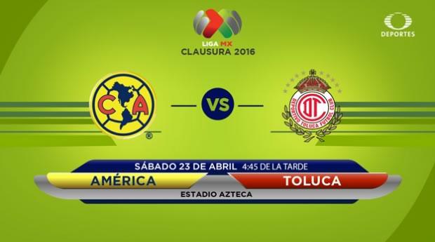 América vs Toluca, Jornada 15 Clausura 2016 | Resultado: 0-1 - america-vs-toluca-en-televisa-deportes-clausura-2016