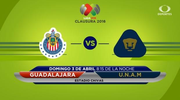 Chivas vs Pumas, Jornada 12 del Clausura 2016 | Resultado: 4-0 - chivas-vs-pumas-televisa-deportes-clausura-2016