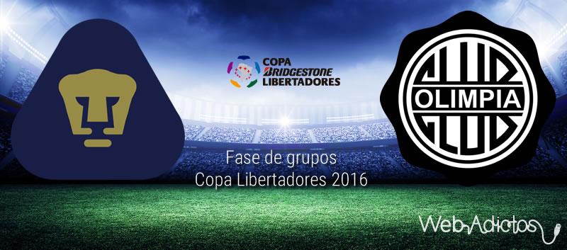 Pumas vs Olimpia, Copa Libertadores 2016 | Resultado: 4-1 - pumas-vs-olimpia-en-copa-libertadores-2016