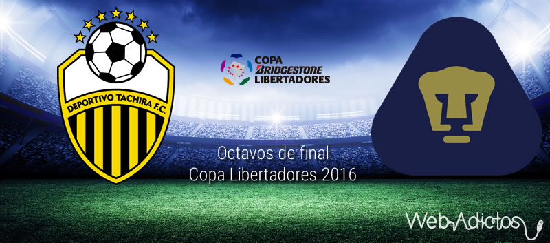 Táchira vs Pumas, Octavos de Libertadores 2016 | Resultado: 1-0 - tachira-vs-pumas-octavos-de-final-copa-libertadores-2016