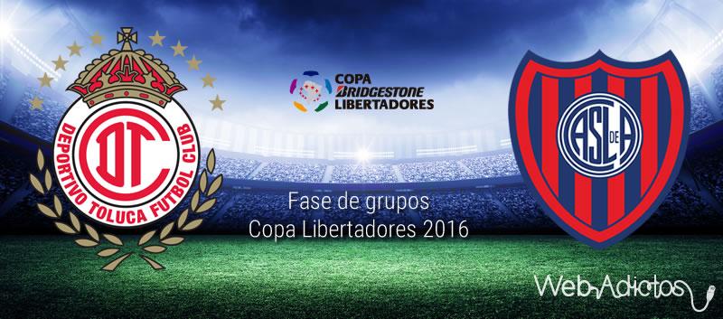 Toluca vs San Lorenzo, Copa Libertadores 2016 | Resultado: 2-1 - toluca-vs-san-lorenzo-en-copa-libertadores-2016