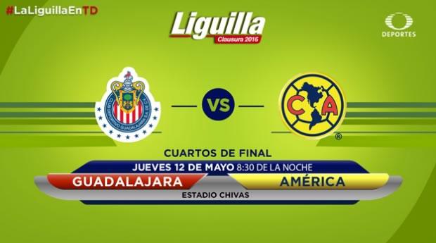 Chivas vs América, Liguilla del Clausura 2016 | Resultado: 0-0 - chivas-vs-america-liguilla-clausura-2016-televisa-deportes
