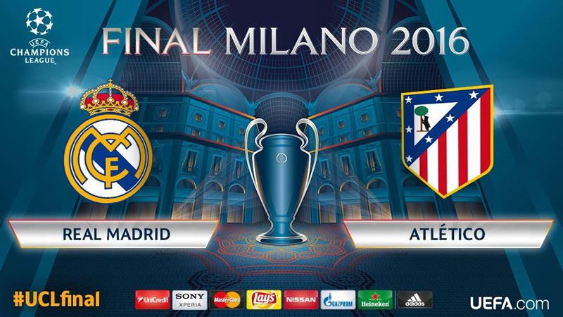 Hora Real Madrid vs Atlético de Madrid, final de Champions 2016 y opciones para verla - horario-real-madrid-vs-atletico-de-madrid-final-champions-2016