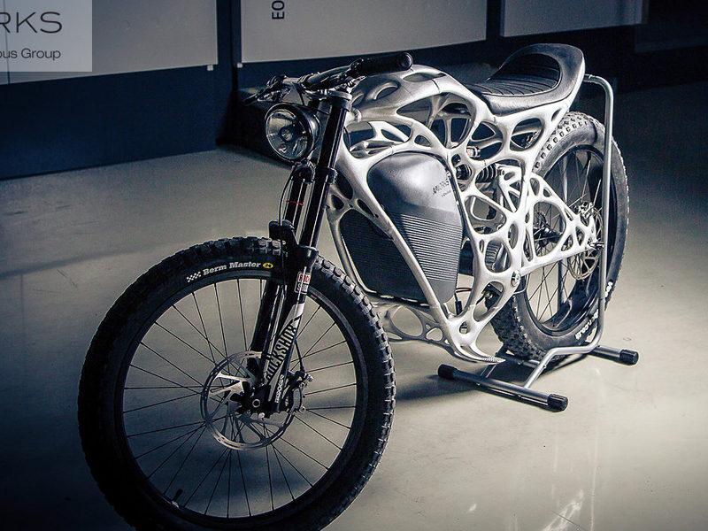 Light Rider, la primera moto eléctrica creada con una impresora 3D - light-rider-motocicleta-3d-800x600