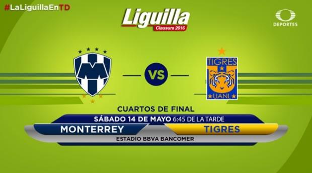 Monterrey vs Tigres, Liguilla del Clausura 2016 | Resultado: 1-2 - monterrey-vs-tigres-liguilla-clausura-2016-televisa-deportes