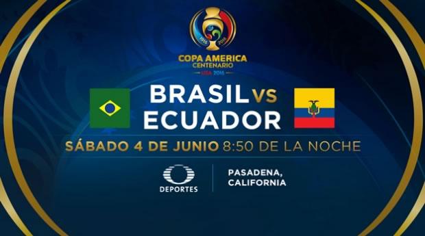 Brasil vs Ecuador, Copa América 2016 | Resultado: 0-0 - brasil-vs-ecuador-copa-america-centenario-2016-televisa-deportes