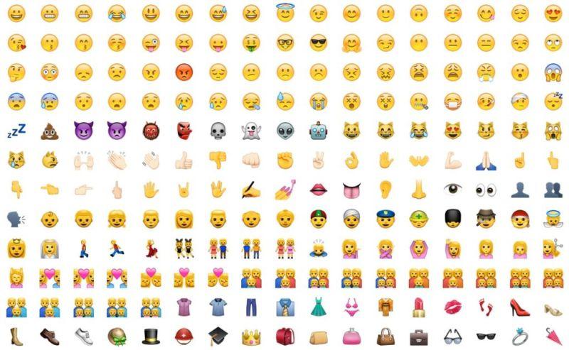 Apple y Microsoft habrían vetado un emoji de escopeta - bunch-of-emoji