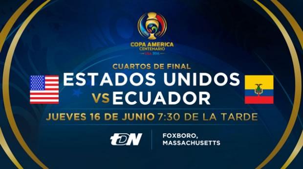 Estados Unidos vs Ecuador, Copa América 2016   Resultado: 2-1 - eua-vs-ecuador-en-vivo-cuartos-copa-america-2016