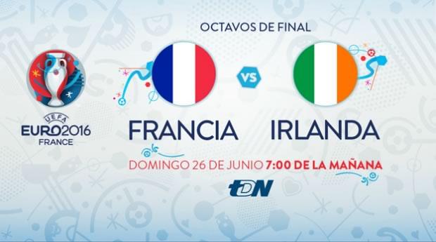 Francia vs Irlanda, Octavos de la EURO 2016   Resultado: 2-1 - francia-vs-irlanda-en-vivo-euro-2016