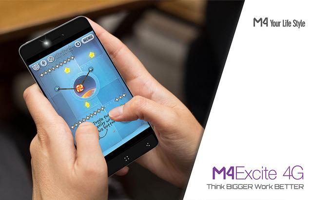 Lanzamiento del M4 Excite: integra tecnología, desempeño y velocidad - smartphone-m4-ss4455-excite