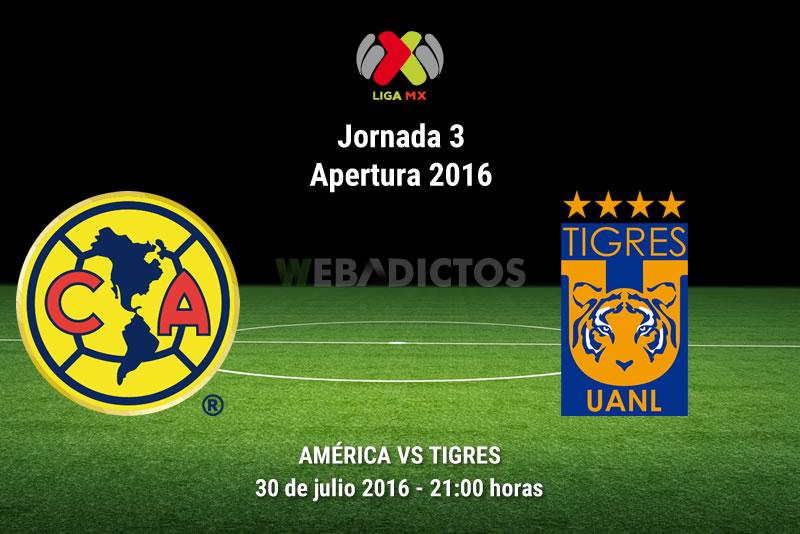 América vs Tigres, J3 del Apertura 2016 | Resultado: 0-3 - america-vs-tigres-apertura-2016