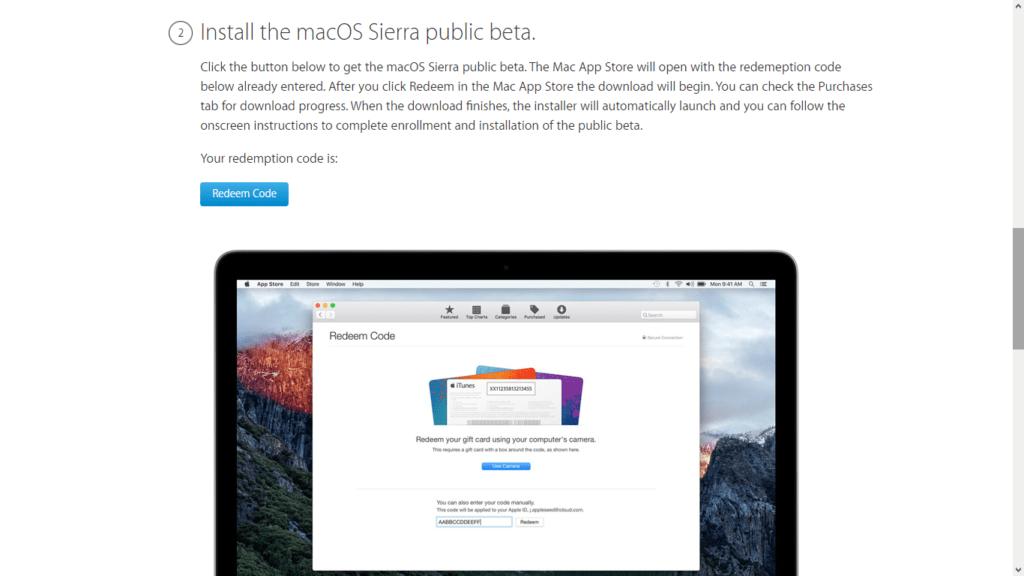 Apple libera las primeras betas públicas de iOS 10 y macOS Sierra - apple-macos-sierra-b1