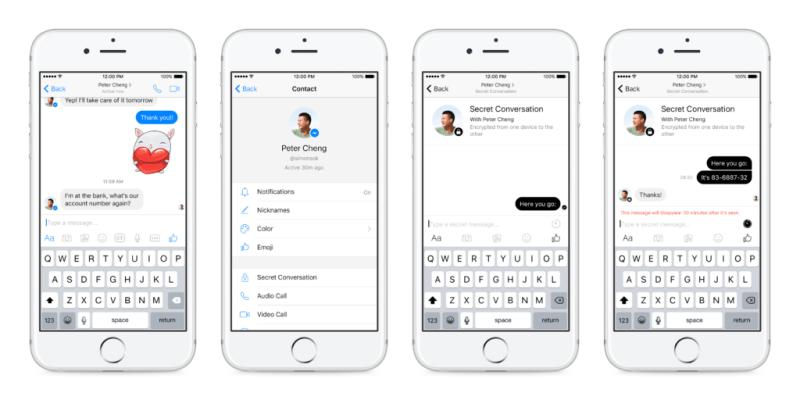 Facebook Messenger empieza a probar encriptación de punto-a-punto - facebook-messenger-secret-conversations