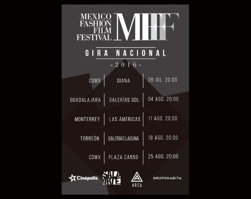 Cinépolis presenta Fashion Film Festival 2016 - gira-nacional-2016-cinepolis-mexicofff-800x636