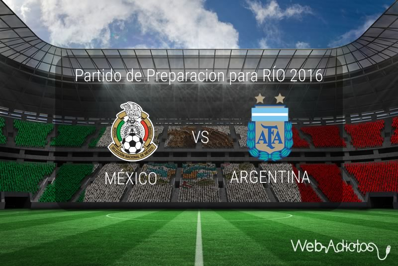 México vs Argentina Sub 23, Partido amistoso 2016   Resultado: 0-0 - mexico-vs-argentina-sub-23-amistoso-2016