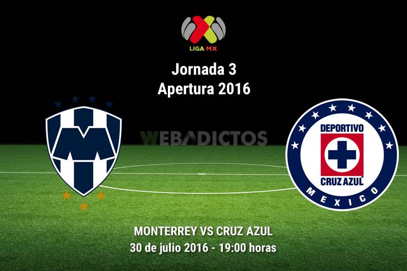 Monterrey vs Cruz Azul, J3 del Apertura 2016 | Resultado: 1-1 - monterrey-vs-cruz-azul-j3-apertura-2016