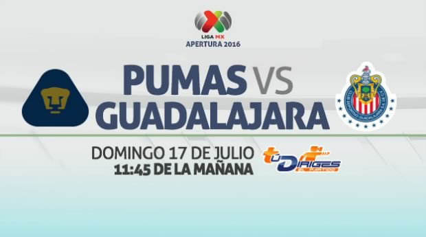 Pumas vs Chivas, Jornada 1 del Apertura 2016 | Resultado: 1-0 - pumas-vs-chiva-en-vivo-apertura-2016
