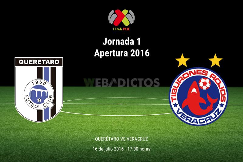 Querétaro vs Veracruz, J1 del Apertura 2016 | Resultado: 2-0 - queretaro-vs-veracruz-apertura-2016