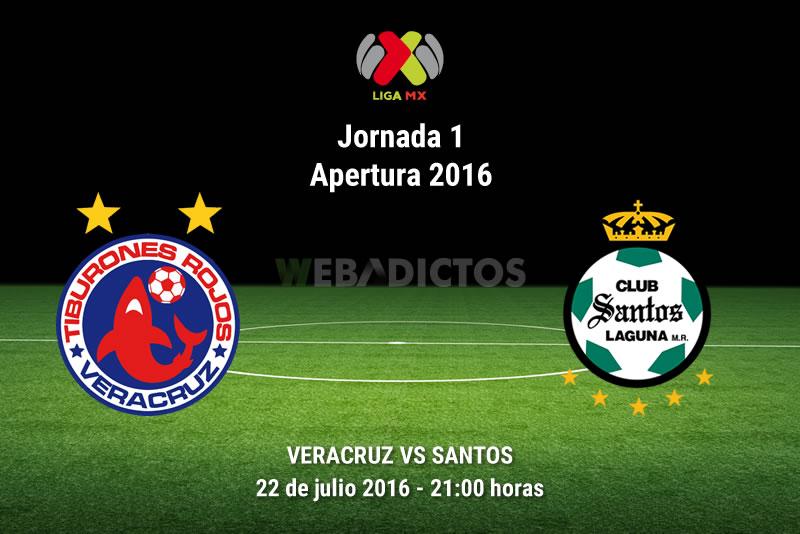 Veracruz vs Santos, Jornada 2 del Apertura 2016 | Resultado: 2-0 - veracruz-vs-santos-apertura-2016