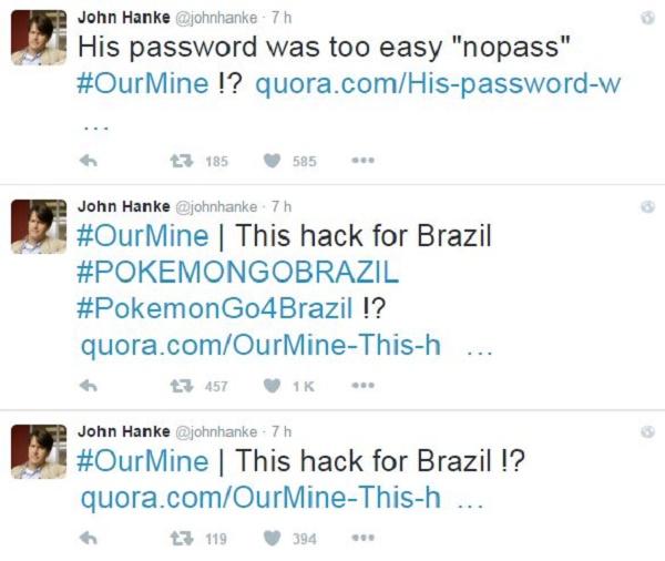 Hackean cuenta de Twitter del creador de Pokémon GO - 1450270