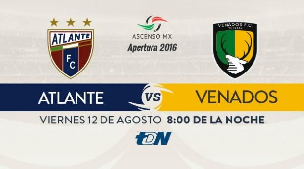 Atlante vs Venados, Jornada 5 Ascenso MX A2016 | Resultado: 1-1 - atlante-vs-venados-en-vivo-ascenso-mx-apertura-2016