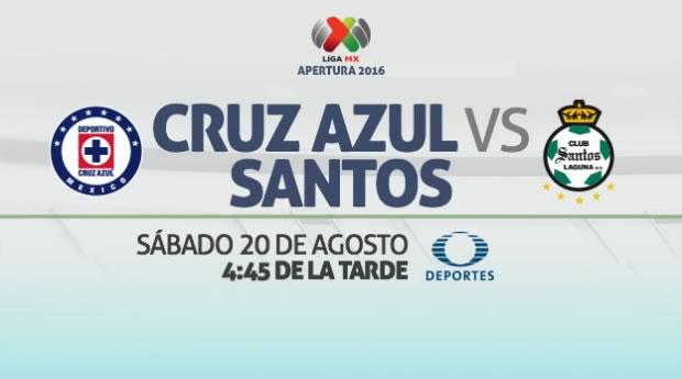 Cruz Azul vs Santos, Jornada 6 Liga MX A2016 | Resultado: 3-1 - cruz-azul-vs-santos-en-vivo-apertura-2016