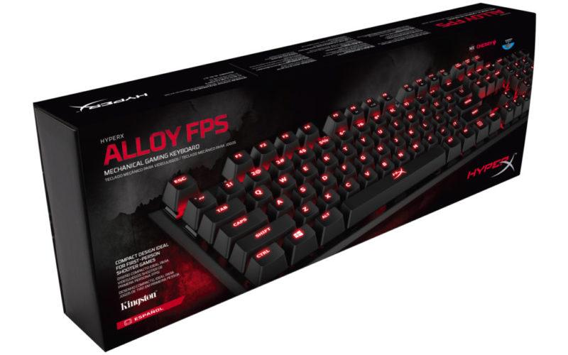 HyperX presenta Alloy, su primer teclado shooter de primera persona FPS - hyperx-alloy-fps-800x500