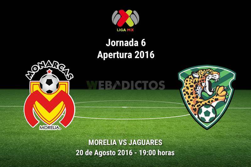 Morelia vs Jaguares, J6 del Apertura 2016   Resultado: 3-2 - monarcas-morelia-vs-jaguares-jornada-6-apertura-2016