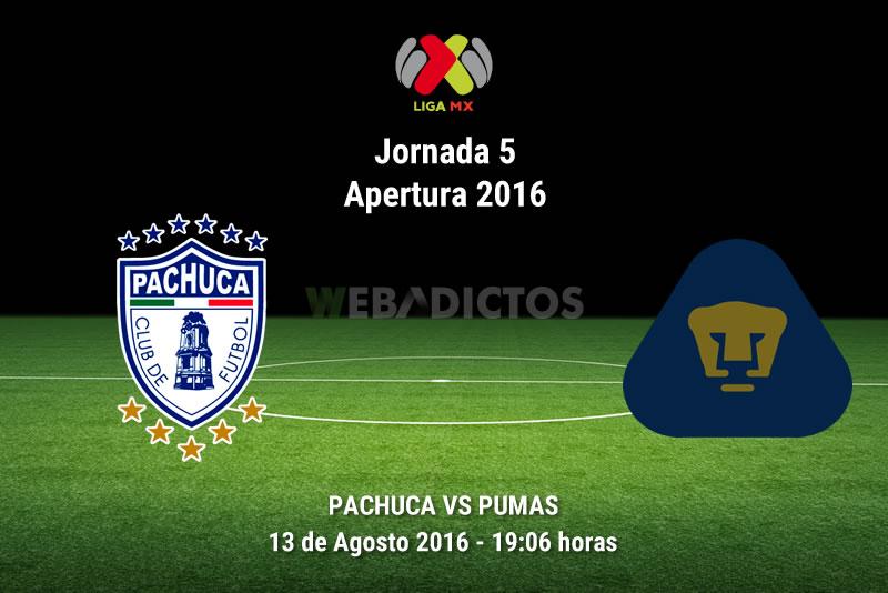Pachuca vs Pumas, Jornada 5 del Apertura 2016 | Resultado: 3-0 - pachuca-vs-pumas-apertura-2016