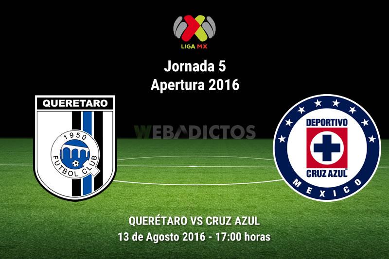 Querétaro vs Cruz Azul, J5 del Apertura 2016 | Resultado: 0-0 - queretaro-vs-cruz-azul-apertura-2016