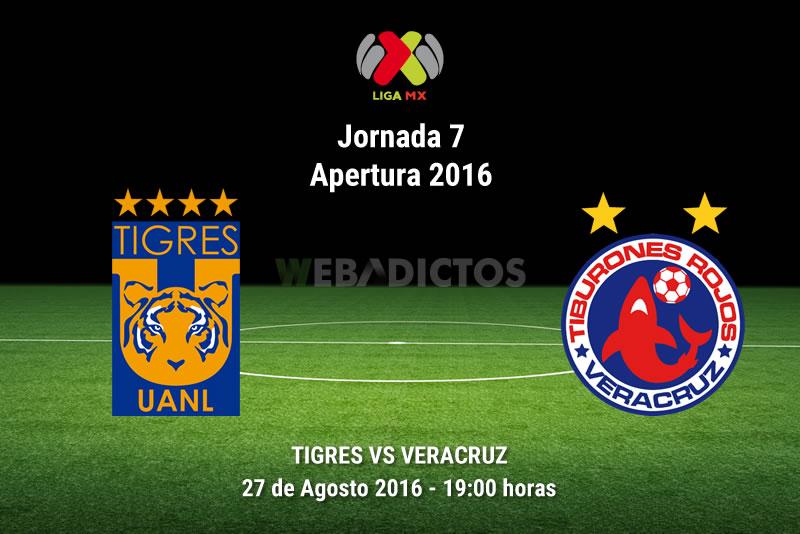 Tigres vs Veracruz, Fecha 7 del Apertura 2016   Resultado: 1-1 - tigres-vs-veracruz-apertura-2016