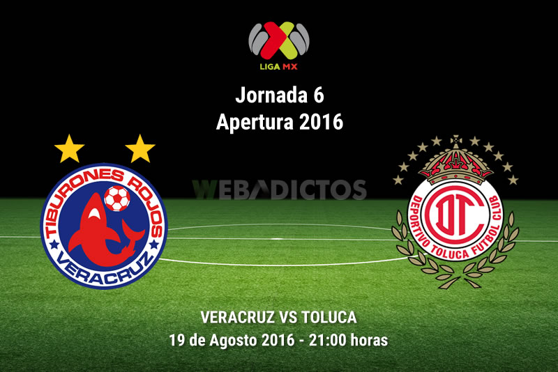 Veracruz vs Toluca, Jornada 6 del Apertura 2016   Resultado: 2-2 - veracruz-vs-toluca-jornada-6-apertura-2016