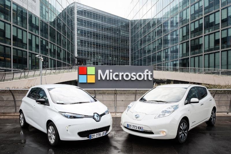 Alianza Renault-Nissan y Microsoft se asocian para crear el futuro de la conducción conectada - microsoft-renault