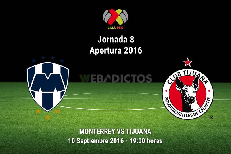 Monterrey vs Tijuana, Jornada 8 del Apertura 2016 | Resultado: 0-0 - monterrey-vs-tijuana-apertura-2016