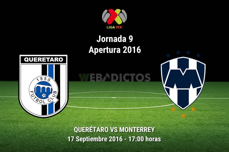 Querétaro vs Monterrey, Fecha 9 del Apertura 2016 | Resultado: 1-0 - queretaro-vs-monterrey-apertura-2016