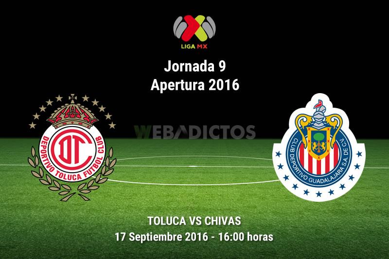 Toluca vs Chivas, Jornada 9 Apertura 2016 | Resultado: 2-1 - toluca-vs-chivas-apertura-2016
