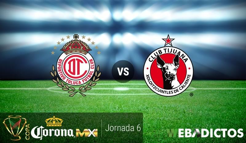 Toluca vs Tijuana, Jornada 6 de la Copa MX A2016   Resultado: 2-1 - toluca-vs-tijuana-j6-copa-mx-apertura-2016