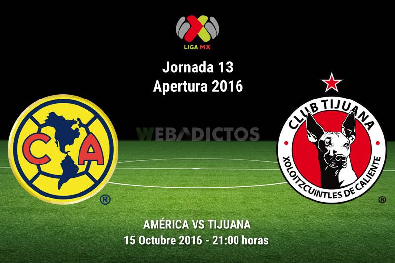 América vs Tijuana, Jornada 13 del Apertura 2016   Resultado: 1-0 - america-vs-tijuana-apertura-2016