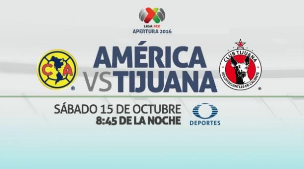 América vs Tijuana, Jornada 13 del Apertura 2016   Resultado: 1-0 - america-vs-xolos-de-tijuana-en-vivo-j13-apertura-2016